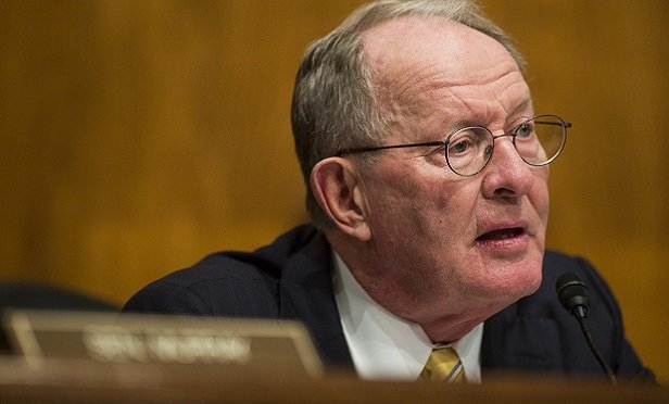 Senator Lamar Alexander, a Republican from Tennessee and chairman of the Senate Health, Education, Labor and Pension Committee, speaks during a nomination hearing in Washington, D.C., U.S., on Wednesday, Nov. 15, 2017. The Trump administration's pick for solicitor of labor would be charged with overseeing one of the largest government legal shops and have independent authority to file lawsuits enforcing some 180 federal workplace statutes. Photographer: Zach Gibson/Bloomberg
