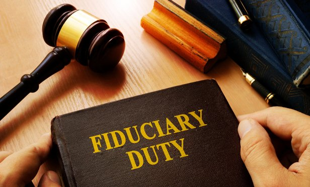 Fiuduciary duty book and gavel