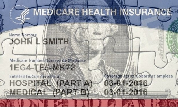 Dollar puzzle over a Medicare card