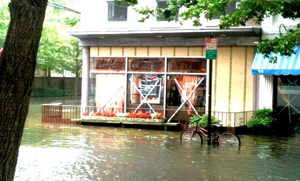 A business in New Jersey flooded by Hurricane Irene (Photo: Allison Bell/ALM)