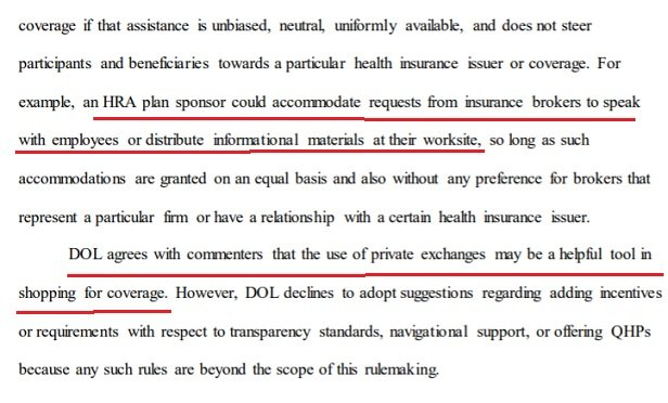 A portion of the HRA regulations text