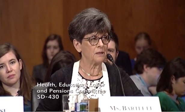 Marilyn Bartlett (Photo: Senate Health, Education, Labor and Pensions)