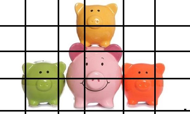 Piggy banks behind bars
