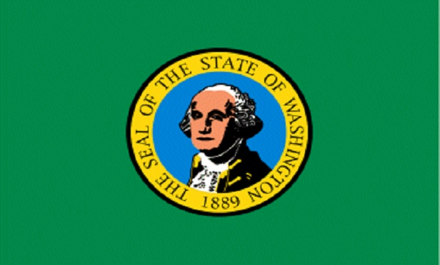 A Washington state flag