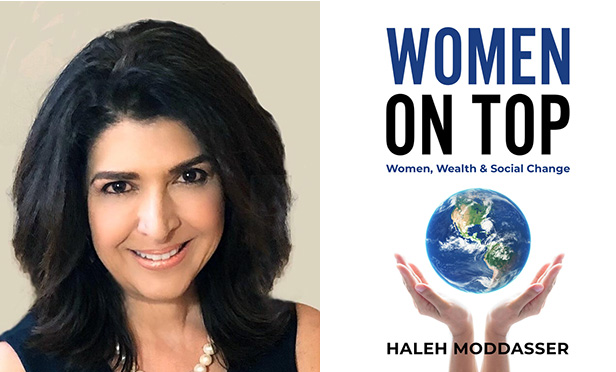 Haleh Moddasser and book cover